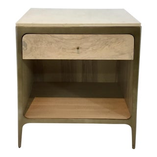 Mid-Century Modern Style Caracole Get in Touch Nightstand For Sale
