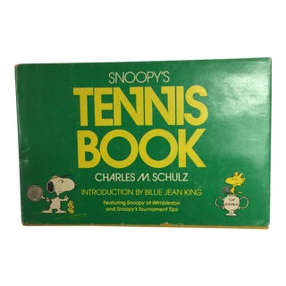 """Charles Schultz """"Snoopy's Tennis Book"""" Book For Sale"""