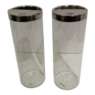 Sterling and Crystal Stainer by Calvin Klein - a Pair For Sale