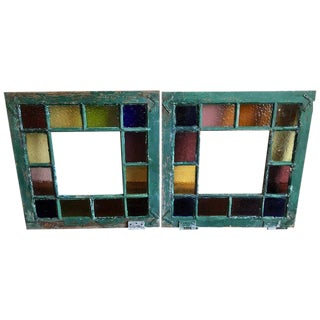 Stained Glass Windows - a Pair For Sale