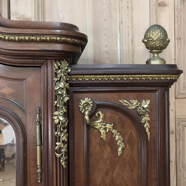 Late 19th Century 19th Century Louis XVI Bronze Mounted Mahogany Armoire by Schmit of Paris For Sale - Image 5 of 13