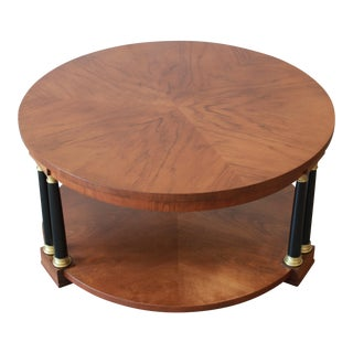 Baker Furniture Round Neoclassical Coffee Table For Sale