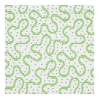 Schumacher X Celerie Kemble MeanderWallpaper in Moss For Sale
