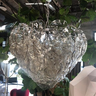 Italian Murano Glass Leaves Chandelier by Mazzega, 1960s Preview