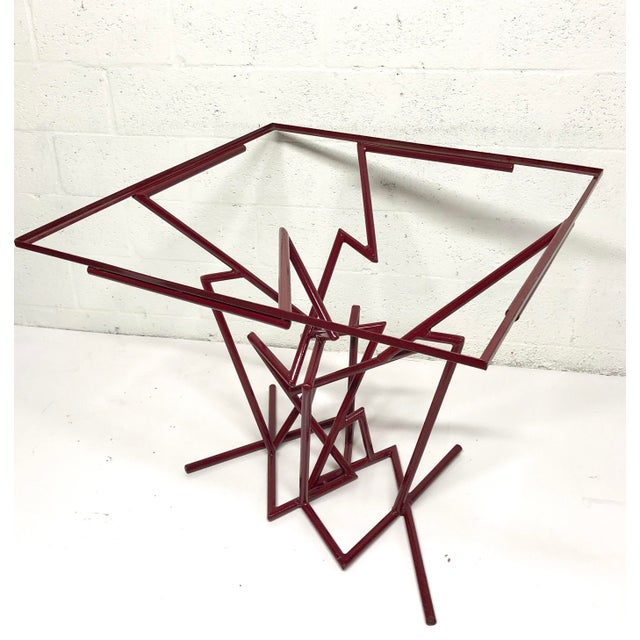 Sculptural Enamel Metal Post Modern Table For Sale In Miami - Image 6 of 9