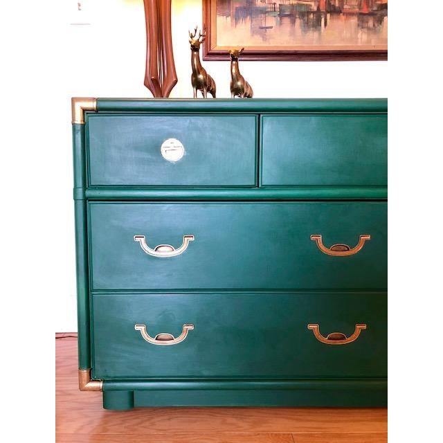 Drexel 1960s Campaign Drexel Accolade Dresser For Sale - Image 4 of 10