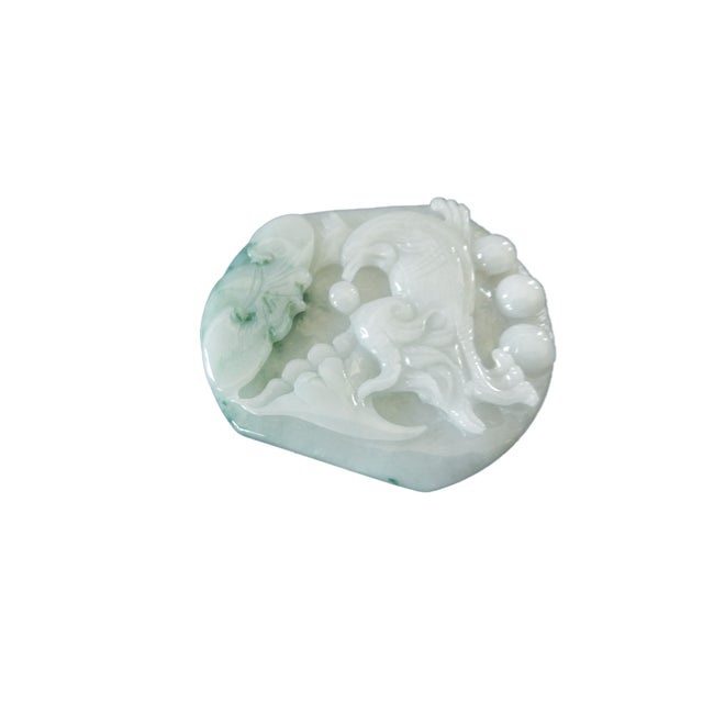 Jadeite Jade Carved Pendant W / Bird - Image 7 of 9