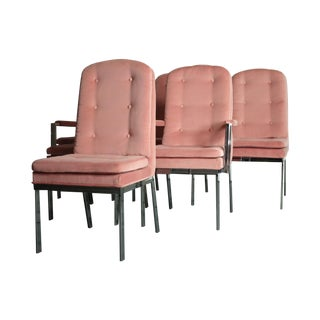 Milo Baughman for DIA Blush Dining Chairs - S/6 For Sale