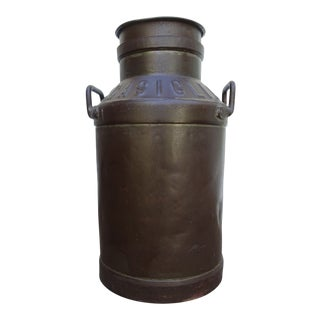 Early 1900s French Refurbished and Painted Bronze Gas / Milk Can For Sale