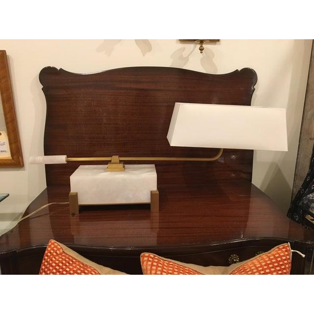 Alabaster Baker Library Desk Lamp For Sale - Image 7 of 7