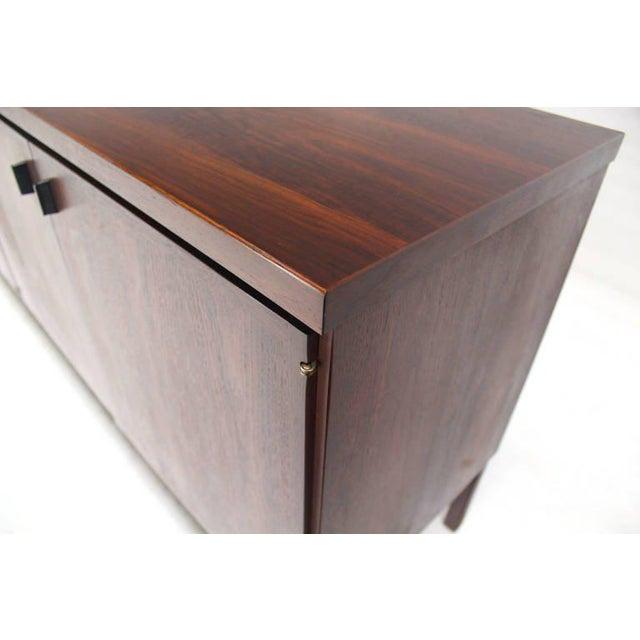 Mid-Century Modern Long Walnut Credenza Cabinet Server For Sale - Image 9 of 9
