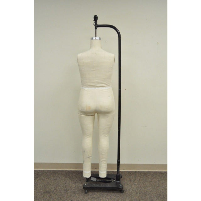 White Superior Model 2009 Woman Female Sz 18 Dress Form Mannequin Cast Iron Wolf Stand For Sale - Image 8 of 11