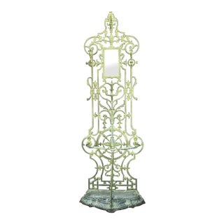 19th Century Victorian Ironwork Hall Tree For Sale