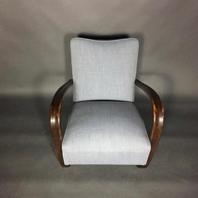 Gray Jindřich Halabala Lounge Chair, Czech Republic, 1930s For Sale - Image 8 of 11