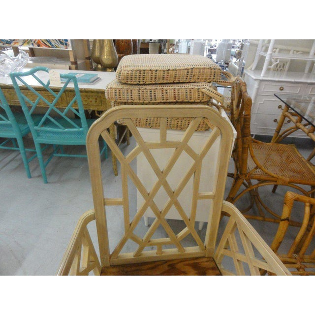 Palm Beach Regency Fretwork Chairs - Set of 6 - Image 6 of 11