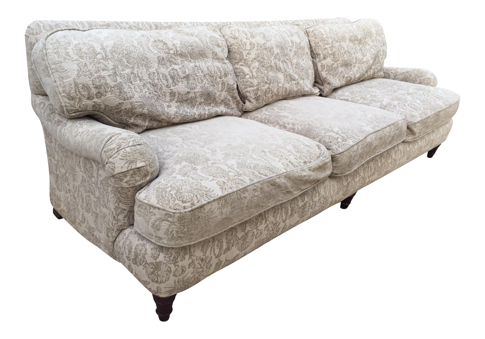 High End Bernhardt English Rolled Arm Sofa