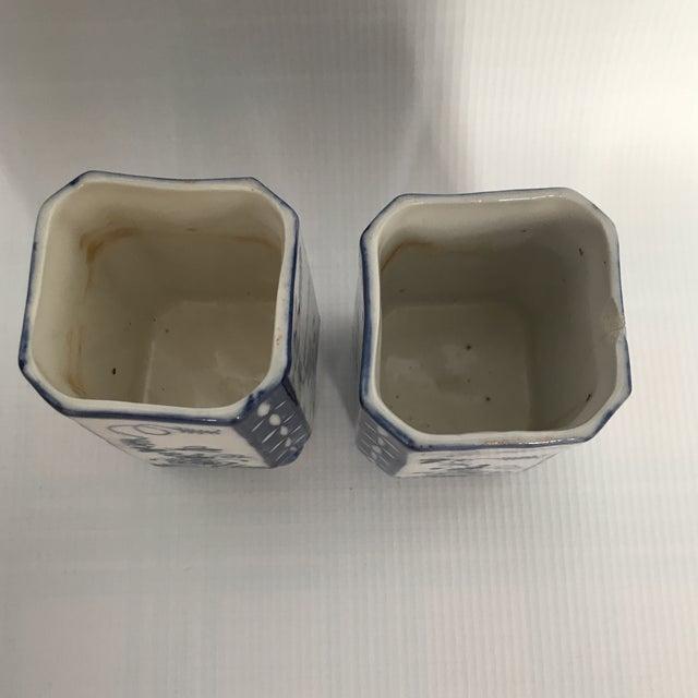 Blue White Porcelain Square Vases A Pair Chairish
