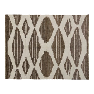 Contemporary Moroccan Rug with Modern Geometric Design, 10'4x13'2 For Sale