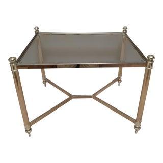 Vintage Hollywood Regency Gold Tone Side Table For Sale