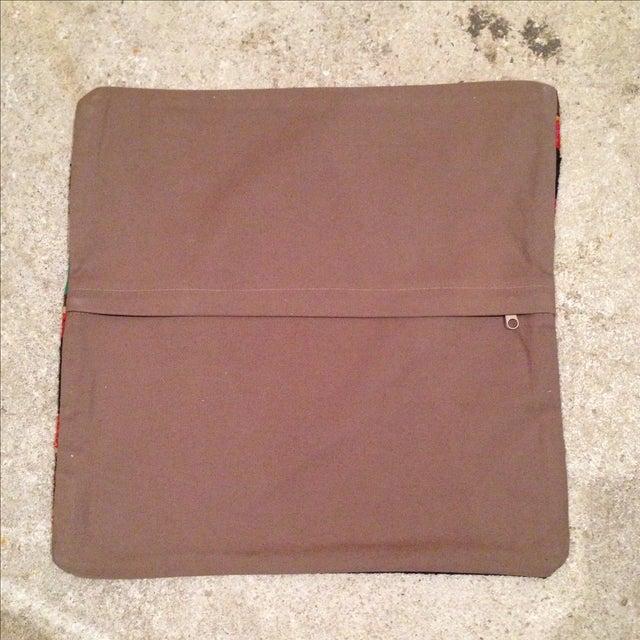 Vintage Striped Turkish Kilim Pillow - Image 5 of 5