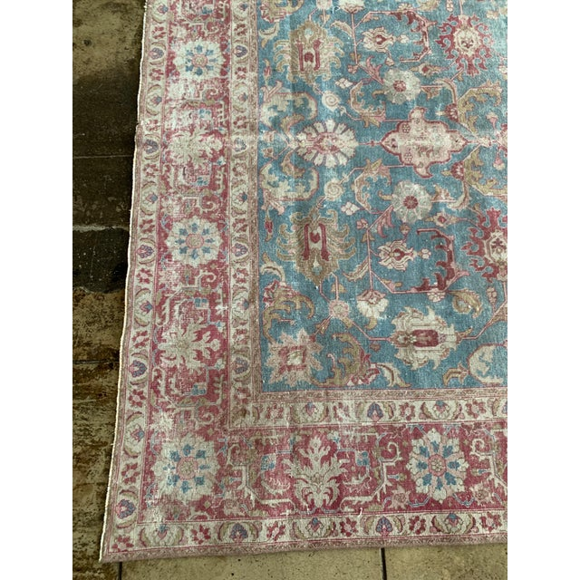 """Persian Persian Tapriz Rug 1930s 10'8"""" X 7' 6"""" For Sale - Image 3 of 10"""