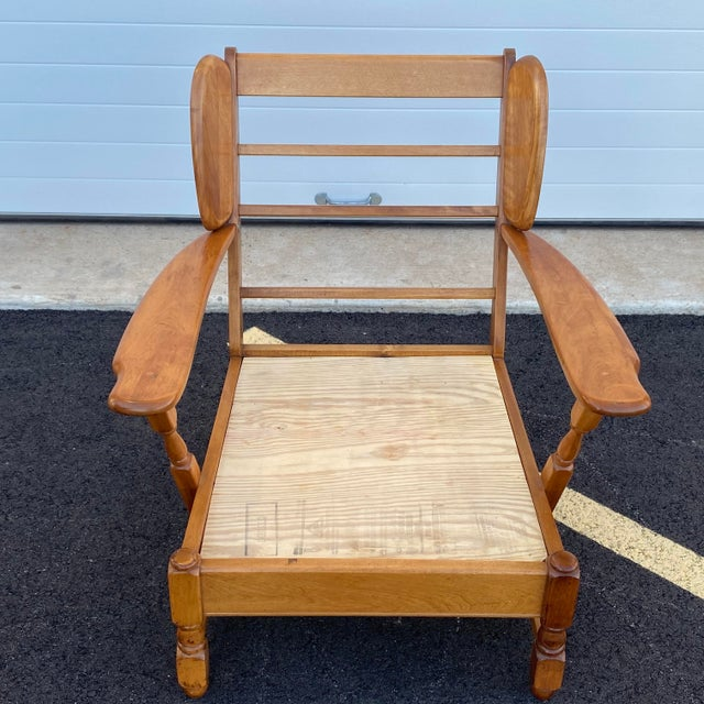 American Heywood Wakefield Lounge Chair For Sale - Image 3 of 13