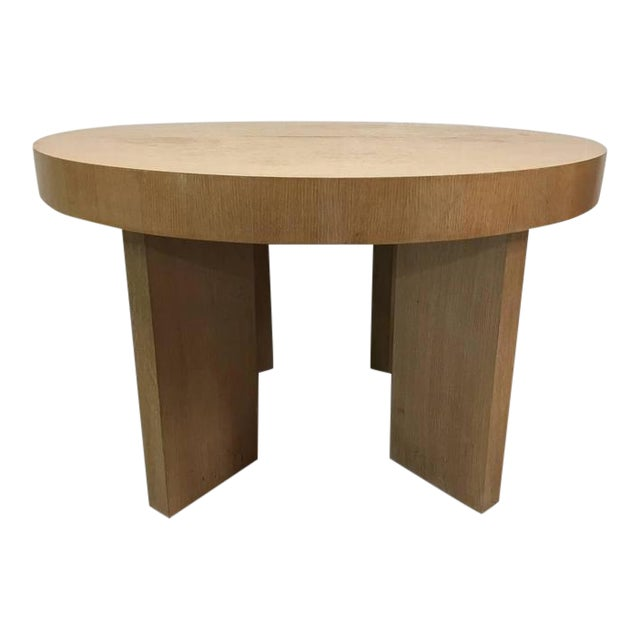 Cerused Oak James Mont Style Dining Table with Two Extensions - Image 1 of 6