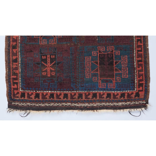 Baluch Bagface Rug - 2′ × 2′ For Sale - Image 4 of 5