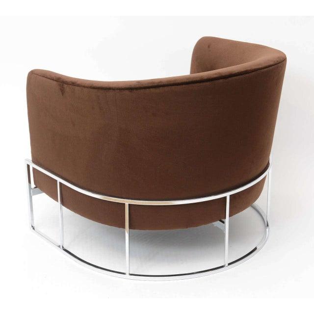 Milo Baughman Barrel Back Chair For Sale - Image 9 of 11