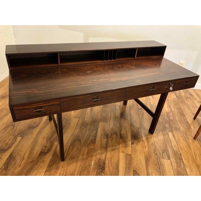 Peter Lovig Nielsen Flip Top Rosewood Desk For Sale - Image 13 of 13