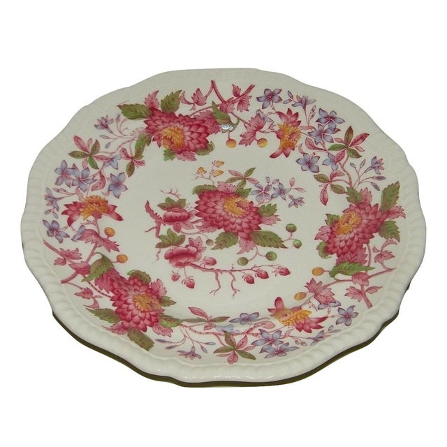1980s Vintage Spode Aster Red Dinner Plate Copeland For Sale - Image 5 of 5