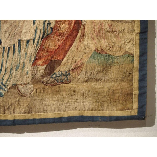 French 17th Century Park Scene Tapestry From France For Sale - Image 3 of 13