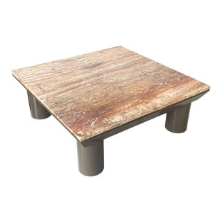 Post Modern Marble and Lacquered Coffee Table in the Style of Mario Bellini For Sale