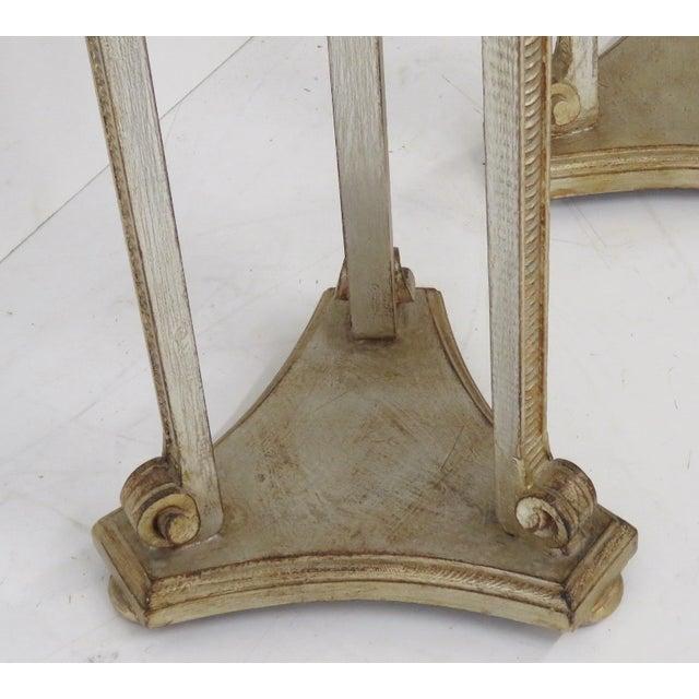 Italian Silverleaf Painted Pedestals - A Pair - Image 2 of 6