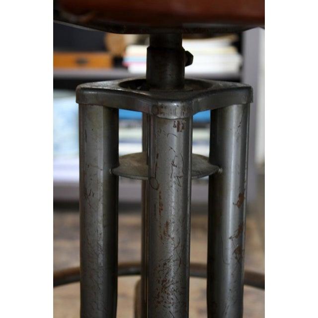 Vintage Brown Task Chair - Image 3 of 7