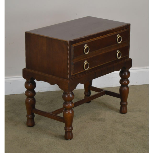 High Quality One Drawer Small Side Table by Sherrill