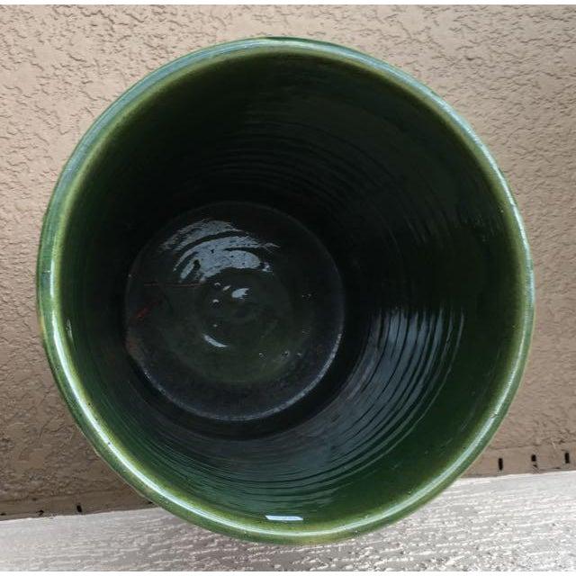 Ceramic Antique Majolica Art Pottery Umbrella Stand For Sale - Image 7 of 9