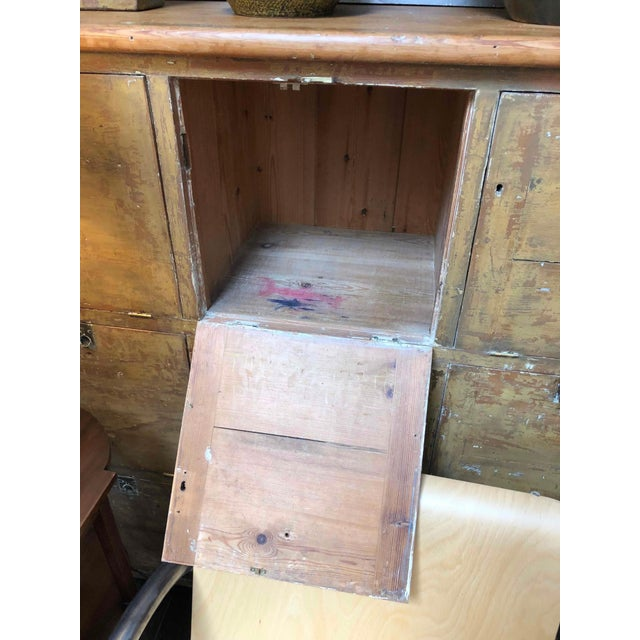 Wood 1880s English Pigeon Hole Cabinet With Drop-Down Doors For Sale - Image 7 of 9