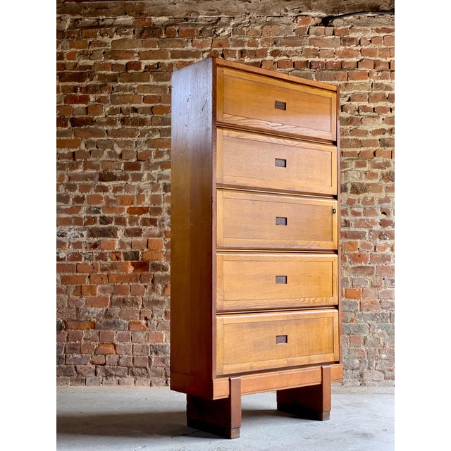 Midcentury Oak Cabinet RAF Staverton circa 1956 N0 3 - A Pair For Sale - Image 6 of 12