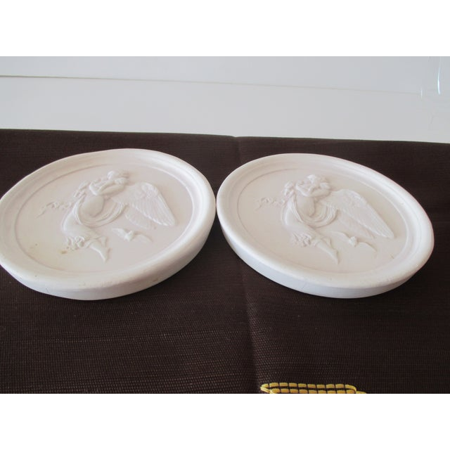 Traditional Vintage Bisque Plaster Intaglios - a Pair For Sale - Image 3 of 7