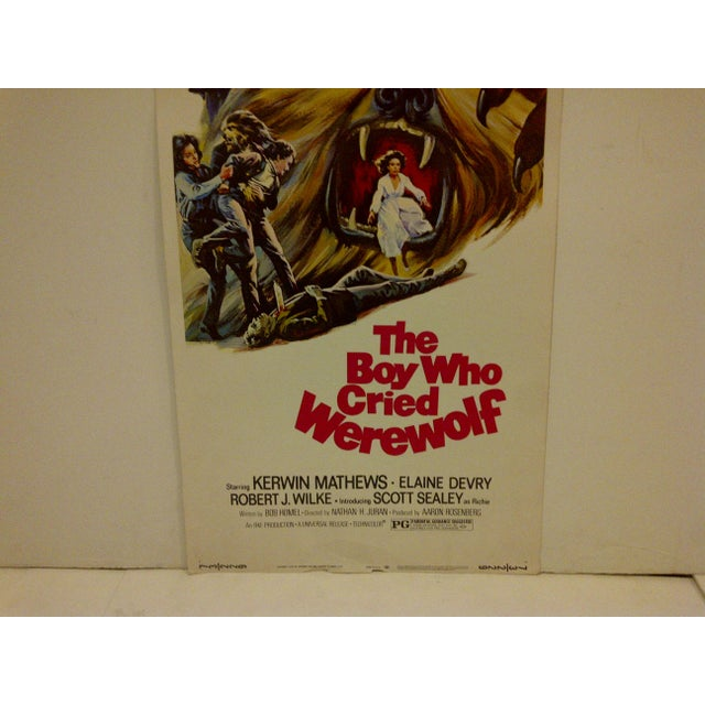 """""""The Boy Who Cried Werewolf"""" Vintage Movie Poster For Sale - Image 4 of 5"""