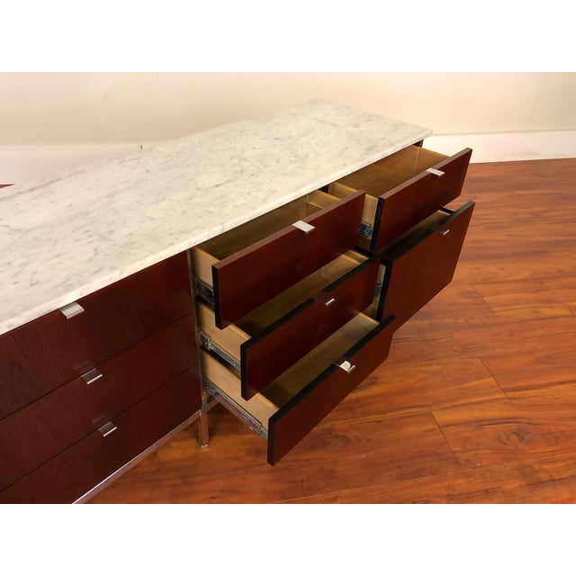 Florence Knoll Four Position Credenza With Marble Top For Sale - Image 12 of 13