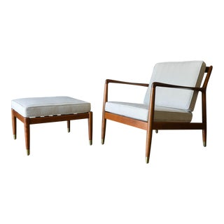 Folke Ohlsson for Dux Lounge Chair and Ottoman, Circa 1960 For Sale