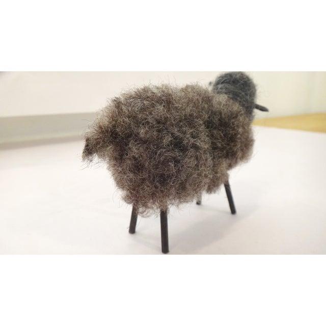 Fuzzy Wool Sheep Figure - Image 6 of 6