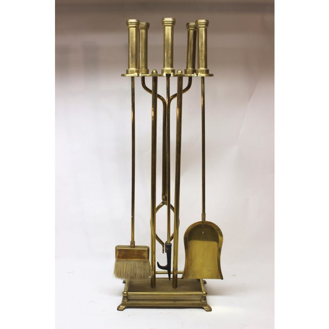 Mid-Century Modern Brass Fire Tools For Sale - Image 9 of 10