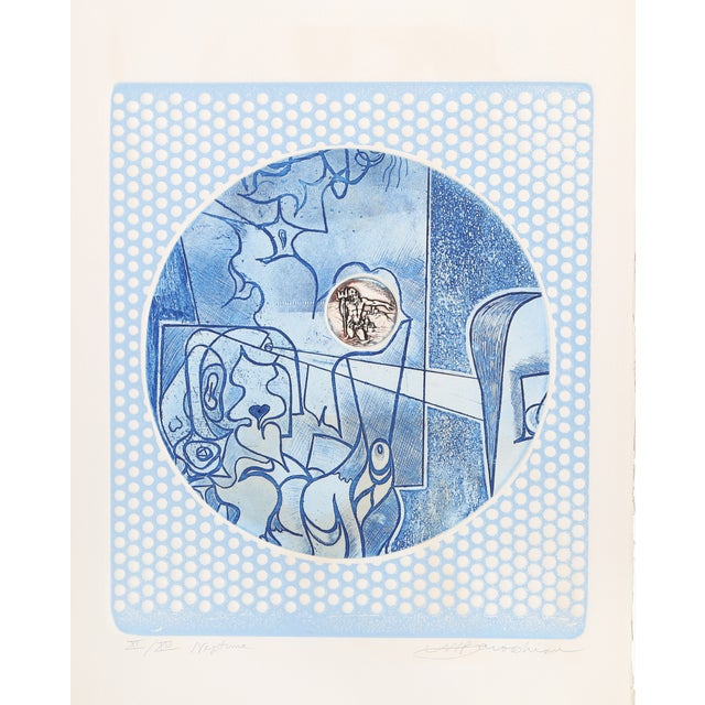 "Martin Barooshian, ""Neptune,"" Intaglio Etching - Image 1 of 2"