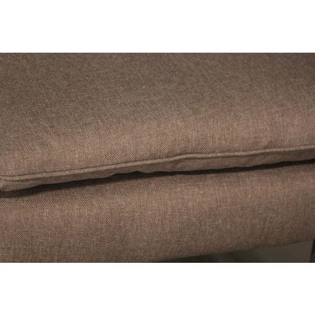 Upholstered Parsons Style Ottomans - Pair - Image 5 of 6