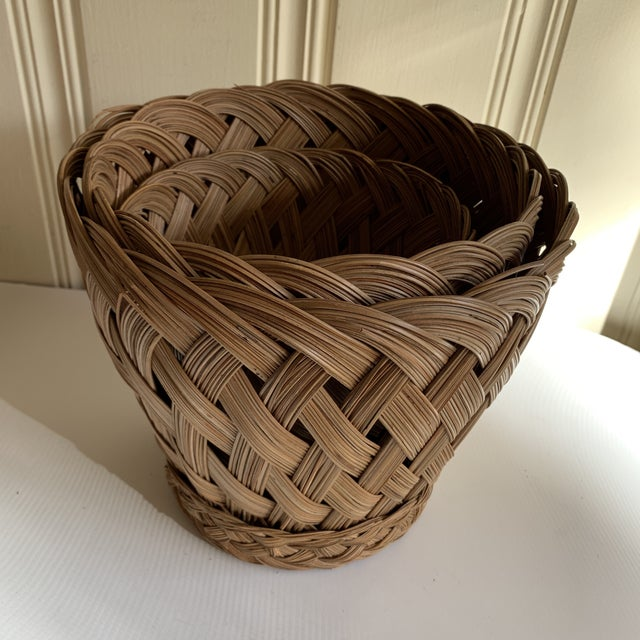 Earthy Classic Basket Vessels, Set of Three For Sale In Los Angeles - Image 6 of 13