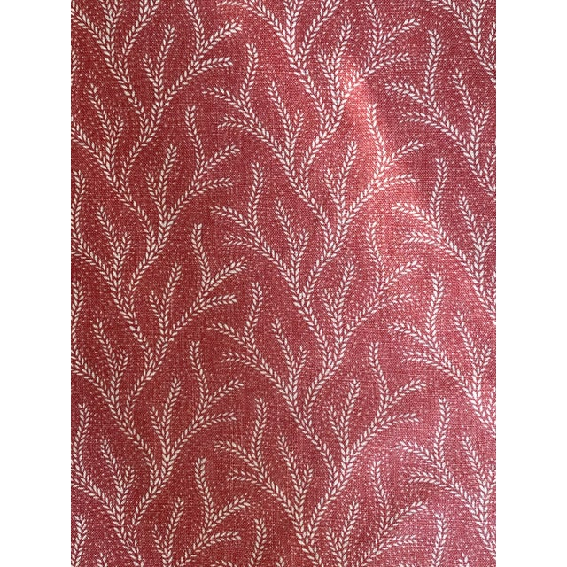 Jane Shelton Screen Print Linen Fabric Holly 3 1/2 Yards For Sale - Image 4 of 5