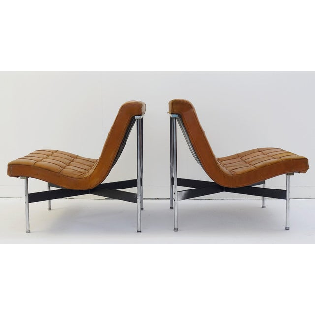 Brown Pair of Two Armchairs by William Katavolos for Icf Milano, 1990 Italy For Sale - Image 8 of 8